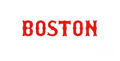 Mixed Media - Boston Red Sox by Ed Taylor