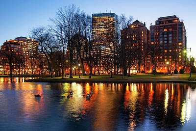 Photograph - Boston Reflections - Public Garden by Joann Vitali
