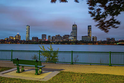Royalty-Free and Rights-Managed Images - Boston Skyline from Cambridge Parkway by Gregory Ballos