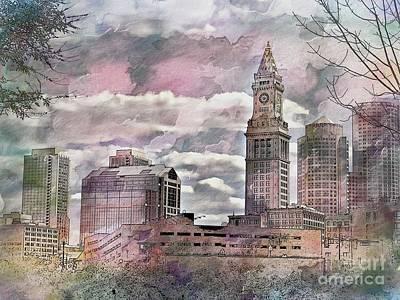 Photograph - Boston Skyline by Marcia Lee Jones
