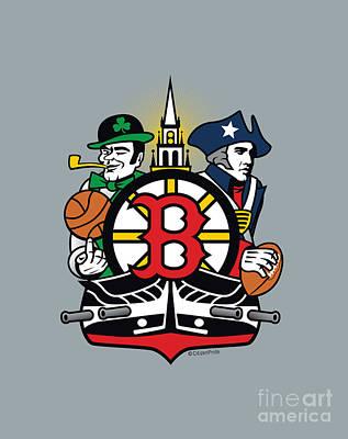 World Forgotten - Boston Sports Fan Crest by Joe Barsin