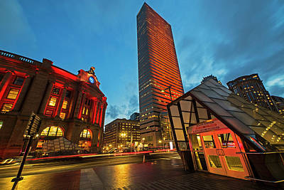 Photograph - Boston Summer St South Station At Dusk by Toby McGuire