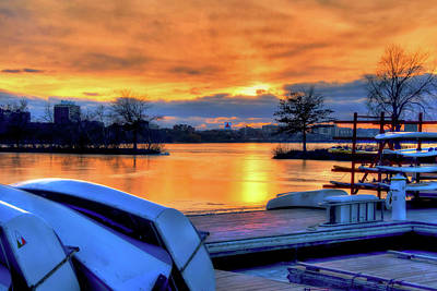 Photograph - Boston Sunset On The Charles River With Citgo Sign by Joann Vitali