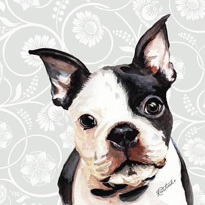 Painting - Boston Terrier by Jennifer Redstreake