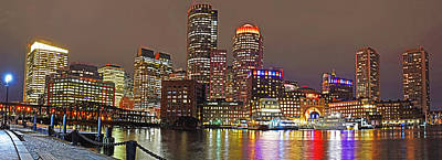 Photograph - Boston Waterfront Pano Boston Ma by Toby McGuire