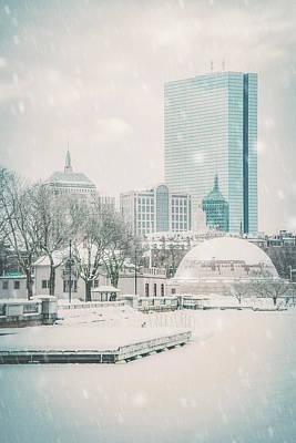 Photograph - Boston Winter - Charles River by Joann Vitali