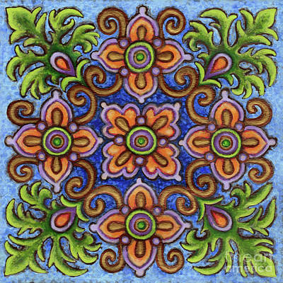 Painting - Botanical Mandala 1 by Amy E Fraser