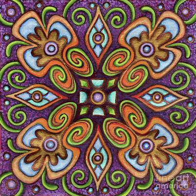 Painting - Botanical Mandala 11 by Amy E Fraser