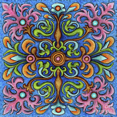 Painting - Botanical Mandala 2 by Amy E Fraser