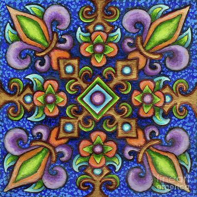Painting - Botanical Mandala 3 by Amy E Fraser