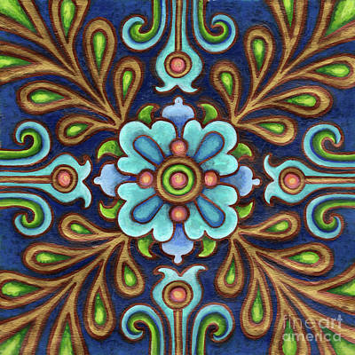 Painting - Botanical Mandala 9 by Amy E Fraser
