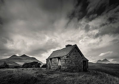 Photograph - Bothy And Mountains by Dave Bowman