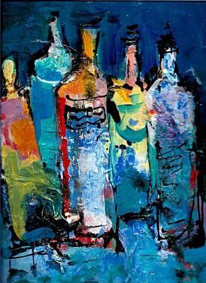 Painting - Bottles Five by Jack Loeb