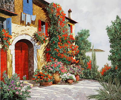 Automotive Paintings Royalty Free Images - Bougainvillea Arancio Royalty-Free Image by Guido Borelli