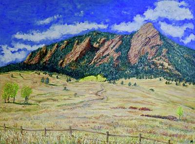 Painting - Flatirons Boulder Colorado by Tom Roderick