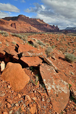 Photograph - Boulder Slabs In Castle Valley Utah by Ray Mathis