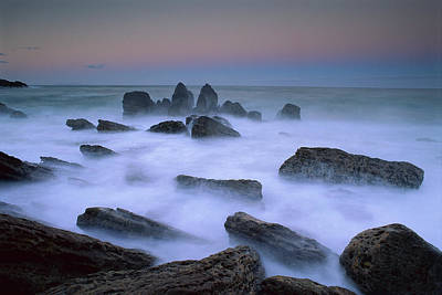 Photograph - Boulders And Seastacks In Evening by Andy Reisinger/ Hedgehog House/ Minden Pictures