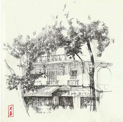 Drawing - Boulevard  Saint Germain by Javier Gonzalez de Castejon