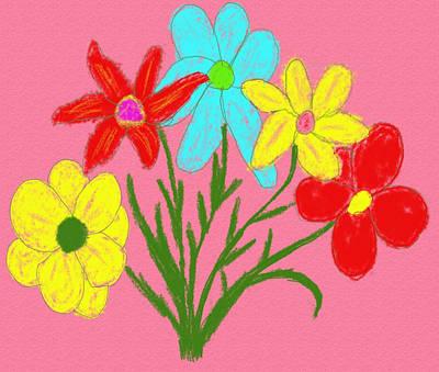 Digital Art - Bouquet by Jean Evans