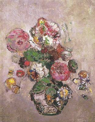 Bath Time Rights Managed Images - Bouquet of Flowers, 1904 Royalty-Free Image by Odilon Redon