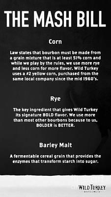 Photograph - Bourbon Basics Black And White by Mel Steinhauer