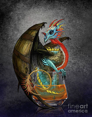 Digital Art - Bourbon Dragon by Stanley Morrison