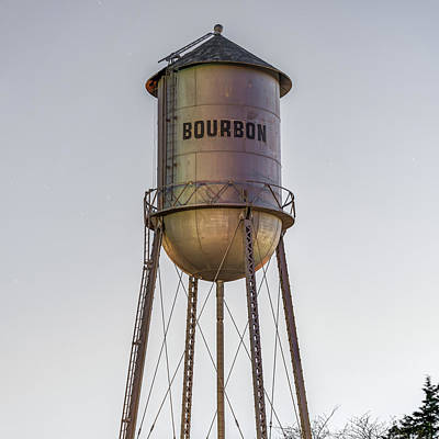 Photograph - Bourbon Water Tower Vintage Decor - Square by Gregory Ballos