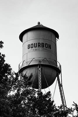 Photograph - Bourbon Whiskey Monochrome Tower Wall Art by Gregory Ballos