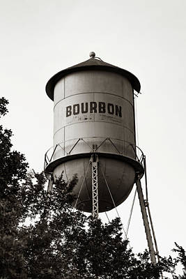 Photograph - Bourbon Whiskey Sepia Tower Wall Art by Gregory Ballos