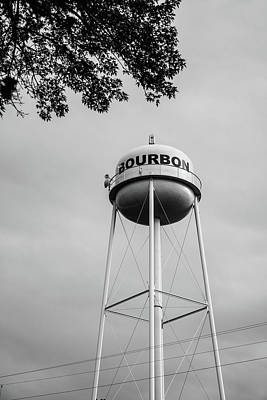 Photograph - Bourbon Whiskey Tower 2 Wall Art - Black And White by Gregory Ballos