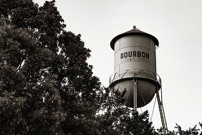 Photograph - Bourbon Whiskey Tower Landscape - Sepia Edition by Gregory Ballos
