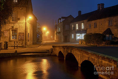 Photograph - Bourton On The Water At Dawn In Autumn by Tim Gainey