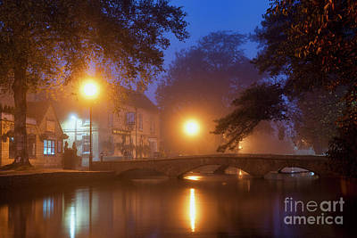 Photograph - Bourton On The Water Autumn Morning by Tim Gainey