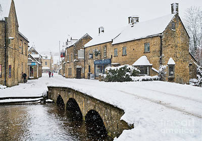 Photograph - Bourton On The Water In The December Snow  by Tim Gainey