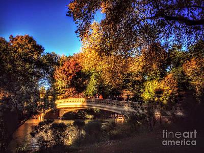 Grateful Dead - Bow Bridge - Central Park New York in Autumn by Miriam Danar