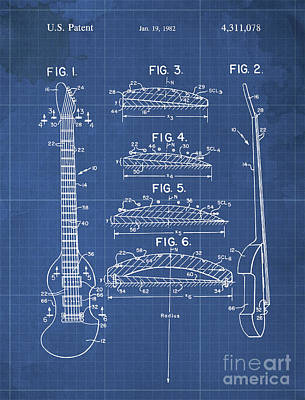 Jazz Drawings Royalty Free Images - BOW PLAYABLE GUITAR Patent Year 1982 Royalty-Free Image by Drawspots Illustrations