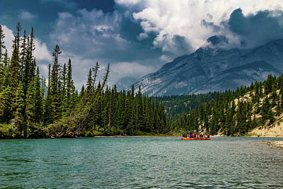 Wall Art - Photograph - Bow River Rafting by Roslyn Wilkins