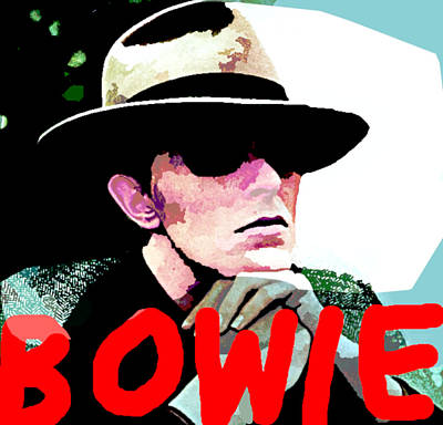 Musicians Drawings Rights Managed Images - Bowie Cool Seventies Royalty-Free Image by Enki Art