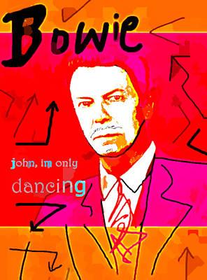 Musicians Drawings - Bowie John Poster  by Enki Art