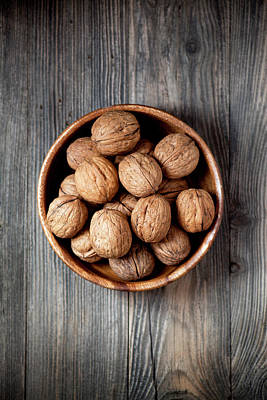 Photograph - Bowl Of Walnuts by Barcin