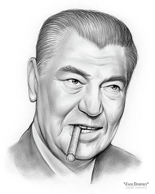 Jolly Old Saint Nick - Boxer Jack Dempsey by Greg Joens