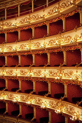 Balcony Photograph - Boxes Of Italian Antique Theater by Naphtalina