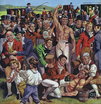 Painting - Boxing In Early 19th Century England  by Angus McBride