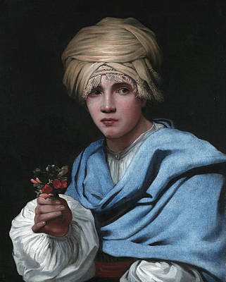Painting - Boy In A Turban Holding A Nosegay by Michiel Sweerts