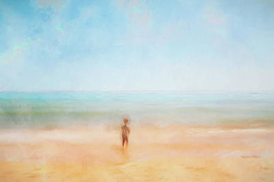 Digital Art - Boy on the Beach by Scott Norris