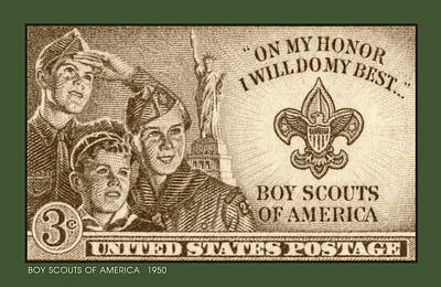 Royalty-Free and Rights-Managed Images - Boy Scouts 1950 by Greg Joens