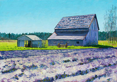 Painting - Boyer Barn by Stacey Neumiller