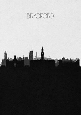 Digital Art - Bradford Cityscape Art by Inspirowl Design