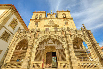 Photograph - Braga Cathedral Facade by Benny Marty