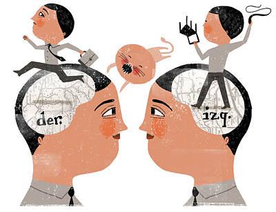 People Digital Art - Brain by Luciano Lozano